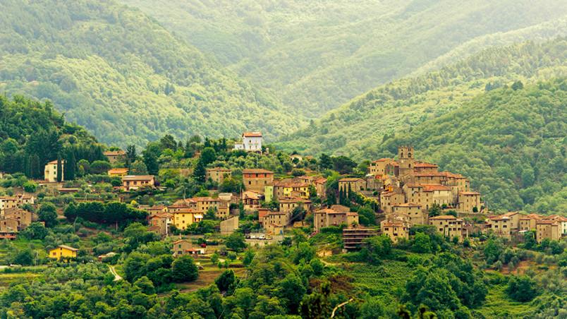Svizzera Pesciatina (Tuscany, Italy), old typical village